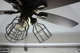 Installing A Ceiling Fan In An Existing Light Fixture Diy Cage Light Ceiling Fan A Hanging Light Home Diy On Cut