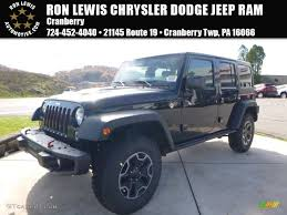 black jeep rubicon 2016 black jeep wrangler unlimited rubicon hard rock 4x4