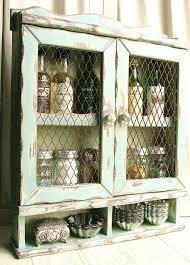 Chicken Wire Cabinet Doors White Wood Chicken Wire Cabinet With Doors Home Design
