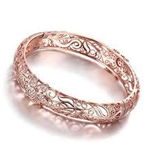 gold bangle bracelet design images Dilanco 18k rose gold plated creative design elegant jpg