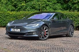 tesla outside tesla model s by car magazine