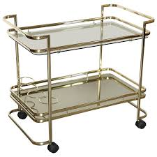 Discount Home Decor Canada Gold Metal Glass And Mirror Two Tier Bar Tea Cart Or Serving