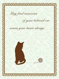pet condolences items similar to cat with yarn pet sympathy card on etsy