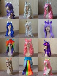 halloween city wigs awesome mlp wigs tails the only thing is that i recognized some