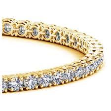 bracelet gold diamond tennis images Yellow gold round diamond tennis bracelet 6 ct tw jpg