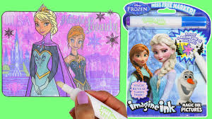 disney frozen imagine ink magic marker activity coloring book