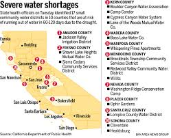 california map drought drought map the 17 california communities most at risk of running