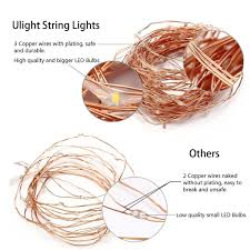 amazon com ulight led string lights with usb power adapter 33ft