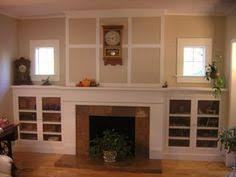 Fireplace Bookshelves by Classic Craftsman Fireplace Mantel With Side Cabinets Like This