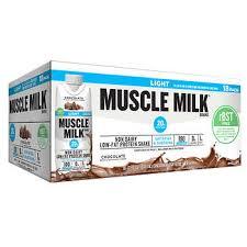100 calorie muscle milk light vanilla crème muscle milk light rbst free chocolate shakes 11 fl oz 18 pack