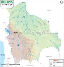 america map with rivers rivers in bolivia bolivia river map