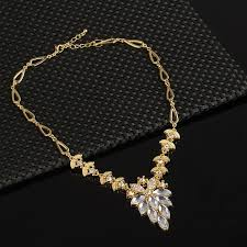 white crystal necklace set images Gold filled sapphire clear austrian crystal jewelry set jpg