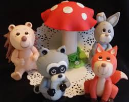 woodland cake toppers forest animals woodland cake topper woodland baby shower forest