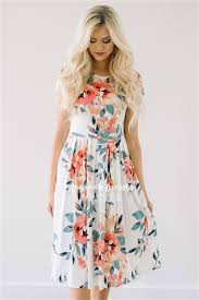 best place to buy bridesmaid dresses ivory tropical floral pocket dress best place to buy modest