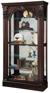Home Furniture Picture Gallery Curio Cabinet Corner Curio Cabinet In Chocolate Cherry By
