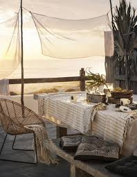 what a perfect decor and setting on the terrace at this