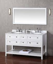 60 Inch Double Sink Bathroom Vanities by Stufurhome Marla 60 Inch Double Sink Bathroom Vanity With Mirror