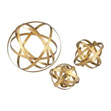Sterling Industries Home Decor Sterling Industries 51 005 S3 Open Structure Metal Orb In Gold