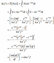 Fourier Transform Table Thefouriertransform Com Fourier Transform Of The Triangle Function