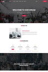 Dream One Page Business Psd Template 66257