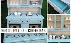 Kitchen Hutch Furniture Rolling Coffee Station For The Kitchen Counter Hometalk