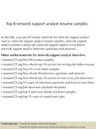 Resume Samples Analyst by Top8networksupportanalystresumesamples 150528142810 Lva1 App6892 Thumbnail 4 Jpg Cb U003d1432823797
