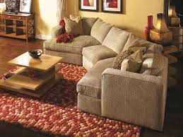 Couch Angled View Norwalk Milford Sectional Sofa With 2 End Angle Chaises And Track