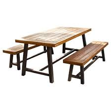 wooden table and bench wooden iron canteen table bench set rs 4000 set id
