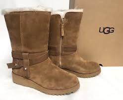 australian ugg boots shoe shops 1 20 capital court braeside ugg australia s aysel 1019130 chestnut sheepskin wedge boots