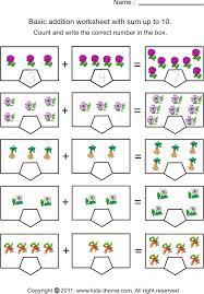 printable worksheets for kindergarten math mreichert kids worksheets