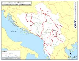 Sarajevo Map Routes Seeto South East Europe Transport Observatory