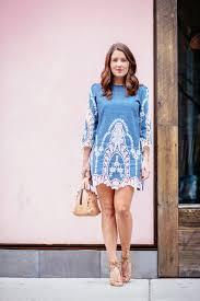 denim lace dress sequins u0026 stripes