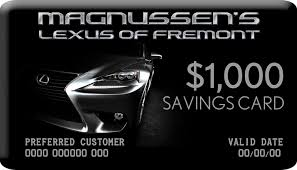 lexus card sign up to become a magnussen s lexus of fremont savings card
