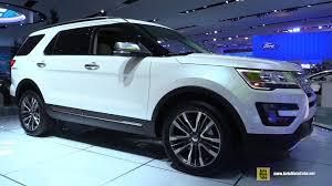 Ford Explorer Xlt 2015 - 2015 ford explorer platinum exterior and interior walkaround