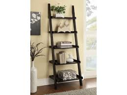 Bookcase With Ladder by Coaster Bookcases Cappuccino Ladder Bookcase With 5 Shelves