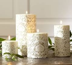 Pottery Barn Pillar Candles 222 Best Candles Images On Pinterest Wedding Decorations Beach