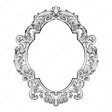 glamorous baroque rococo mirror frame set u2014 stock vector