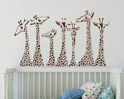 Jungle Wall Decal For Nursery Jungle Wall Decal Etsy