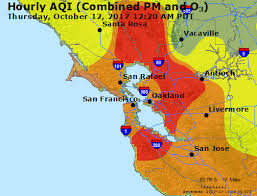 map of ta bay maps where is wildfire smoke worst in bay area
