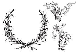 free leafy frames and ornament brushes vintage graphics