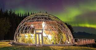 geodome house geodesic dome protects cob house family of 6 in arctic circle