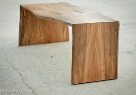 folded bole coffee table live edge bench slab reclaimed salvaged