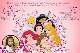 custom birthday cards disney themed birthday invitations princess custom birthday