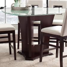 najarian soho counter height dining table with crackled glass top