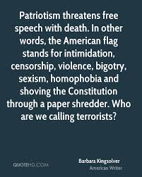 American Flag Words Barbara Kingsolver Quotes Quotehd