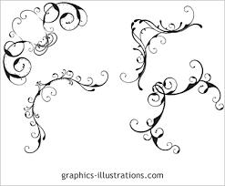 lite edition corner designs swirls ornaments set of 4 photoshop