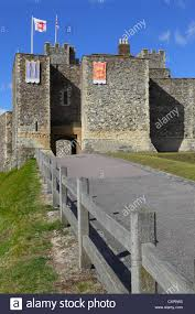 dover castle entrance to the great tower dover castle kent england uk gb stock