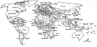 world map with country names world map with country names coloring p on world coloring