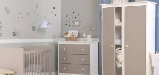 chambre bébé blanc et taupe chambre bébé grain d orge bicolore