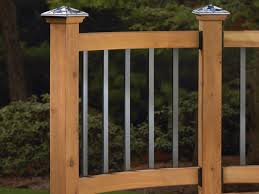 traditional series face mount aluminum baluster deck railing